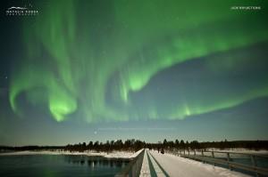 Aurora Borealis over Nellim, Finland